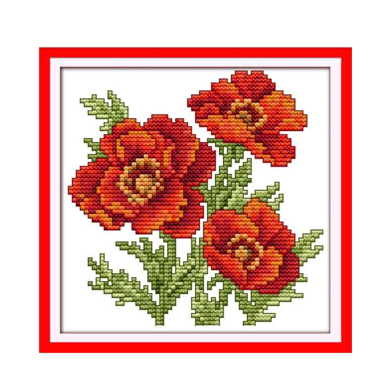 Small happy flowers DIY Embroidery Cross Stitch Kit Small size flowers family decorative patterns embroidery needlework sets