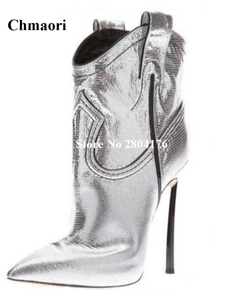 High Quality wINTER White Sliver Yellow Ankle Boots Pointed Solid Bling Bling Vamp Thin Heels Boots Slip-On Pointed Toe Shoes denim blue thin heels boots new fashion bling bling crystal embellished high heel boots sexy pointed toe lace up ankle boots
