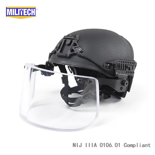 BK preto CP Fuselagem Quadro Ar Exalado NIJ IIIA 3A Conjunto Negócio Ballistic Helmet Escudo Viseira do Capacete À Prova de Bala à prova de balas máscara