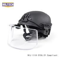 Black BK Airframe CP Air Frame Vented NIJ IIIA 3A Bulletproof Helmet Visor Set Deal Ballistic
