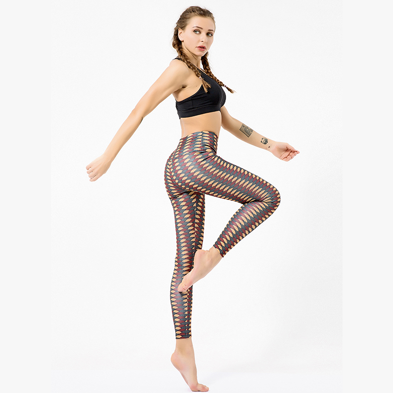 High Waist Sexy Sports Hip Women Elasticity Leggings Printing Workout Leggings Fitness Feminina 2019 Run Casual Pants