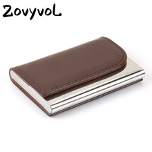 ZOVYVOL 2019 Business ID Credit Card Holder Big Capacity Name card wallet Bank Card Package Solid Steel Card Box Case women men