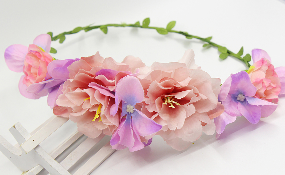 2016 Hot selling Hair Crown Bracelet Head Wreath Bridal Headpiece Wedding Holiday Flower Headband font b
