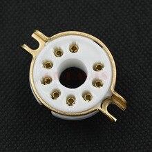 GD-PARTS 10 ШТ. MAGNOVAL 9pin Керамические Розетки Трубы для EL504, EL519, PL519 Монтаж На Корпусе Позолоченный Vintage Усилитель DIY(China (Mainland))