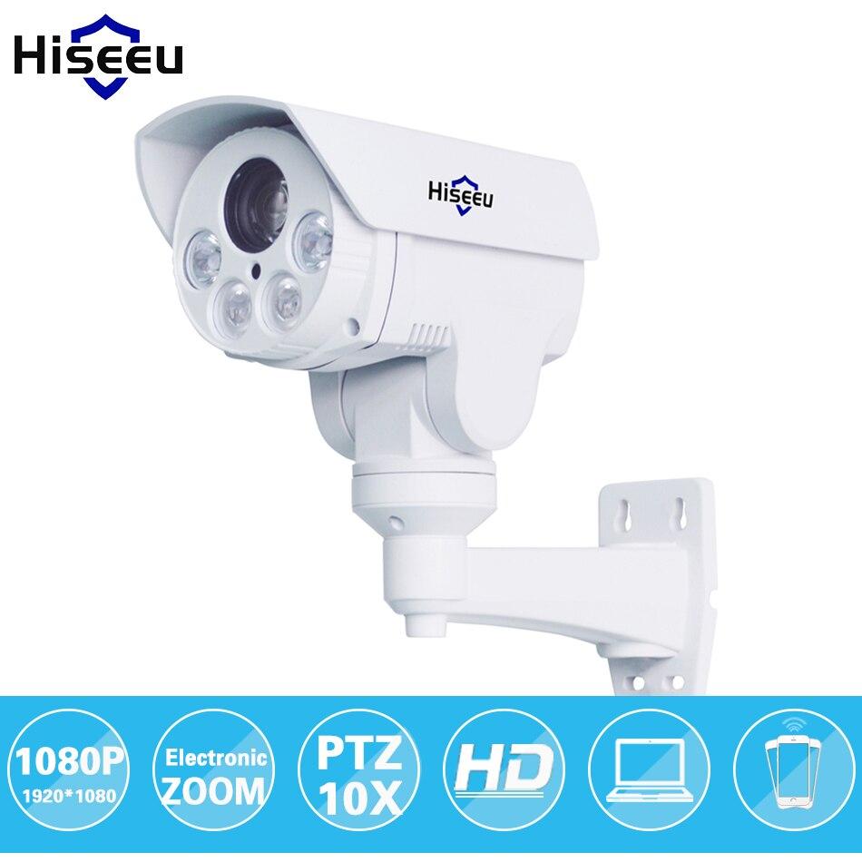 HD 1080 P 10X Zoom PTZ IP Caméra Bullet HD Projet Vision nocturne Imperméable À L'eau IRCUT ONVIF P2P ONVIF POE HD402 Hiseeu HD402