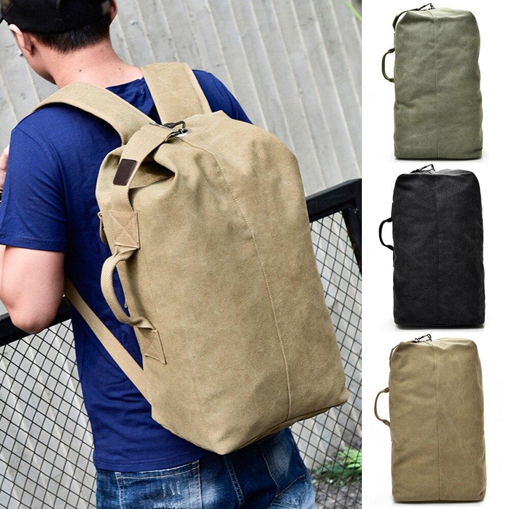 Vintage Neutral Travel Canvas Backpack High Capacity Satchel Bag Mochila Masculina Rucksack Damen Plecak NEW 2018 New #8