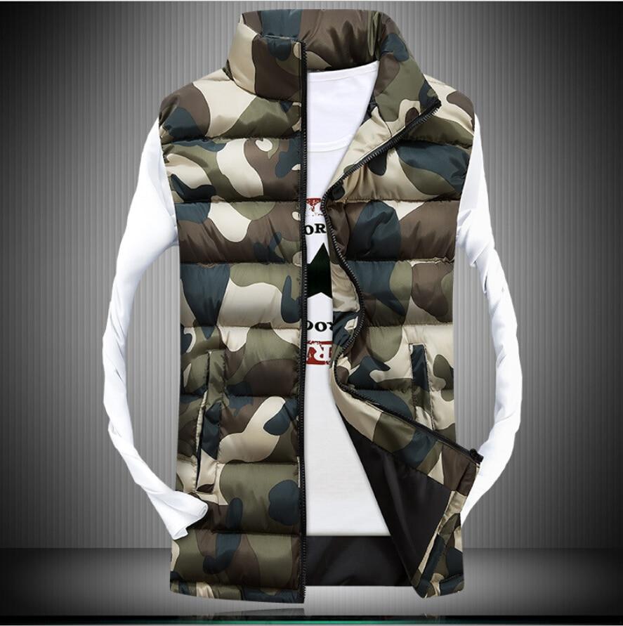 Jackets & Coats Strict Hirigin Winter Vest Men 2018 Jackets Sleeveless Hoodie Solid Military Camouflage 2 Style Slim Winter Warm Cotton Coat