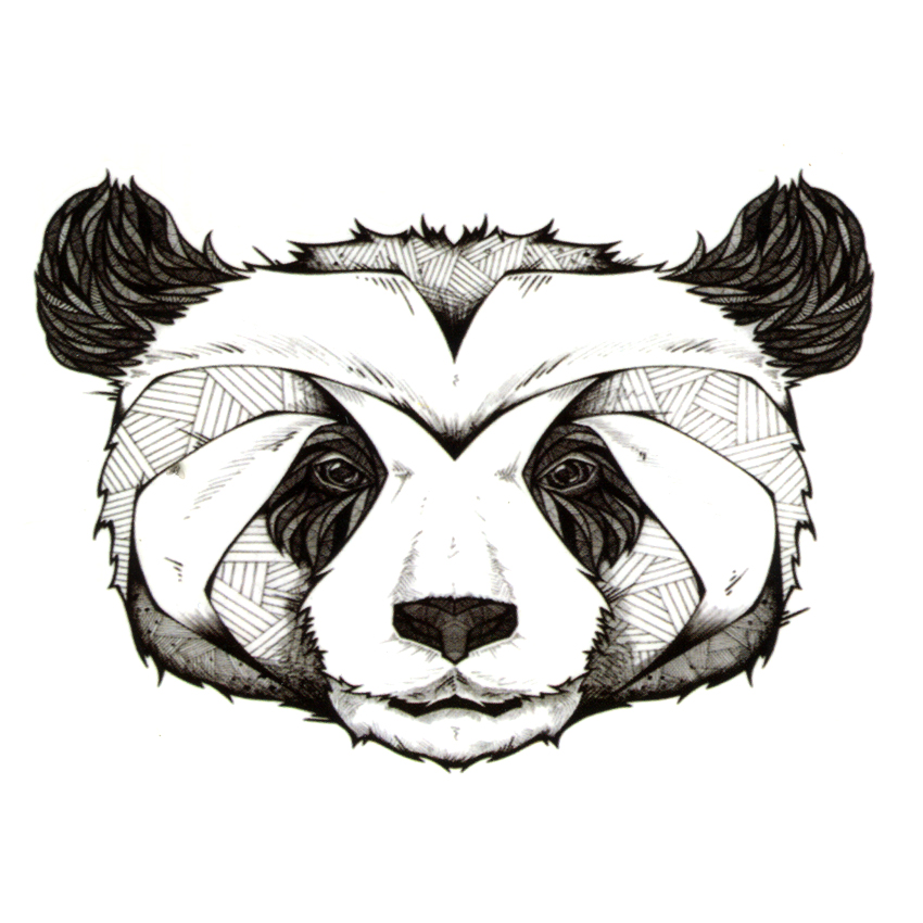 Cute Panda Waterproof Temporary Tattoos Men Henna Tattoo Beauty Bear Sleeve Tatoo Sticker Pokemon Tatuagem Car Styling Tatuajes