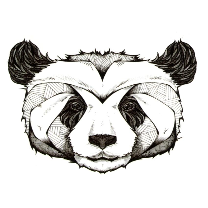 Cute Panda Waterproof Temporary Tattoos Men Henna Tattoo Beauty Bear Sleeve Tatoo Sticker Pokemon Tatuagem Car Styling Tatuajes