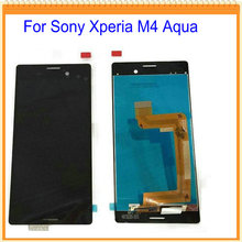 New LCD For Sony Xperia M4 Aqua LCD Screen Display with Touch Screen Digitizer Assembly Black White + Tools Free Shipping
