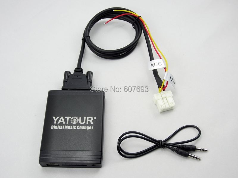Yatour Car Digital CD Changer Fit Nissan MP3 USB SD AUX adapter kit interface audio media player emulator yatour digital music changer usb sd aux adapter yt m06 fits volvo s60 s40 car stereos mp3 interface emulator din connector