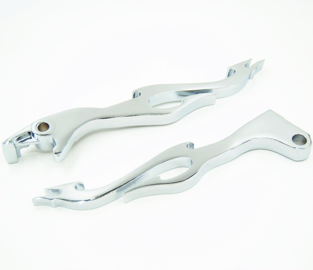 Free Shipping Chrome Flame Brake Clutch Levers For Honda Shadow 250 600 750 1100 Steed 400 for honda steed 400 600 vt600 shadow 400 750 magna 250 750 motorcycle front brake clutch left 1 25mm chrome