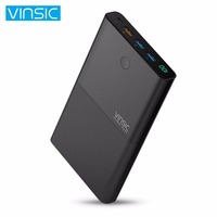 VINSIC 28000MAH Large Capacity Power Bank Mobile Phones Battery Charger Power Supply Phone Charger With QC3
