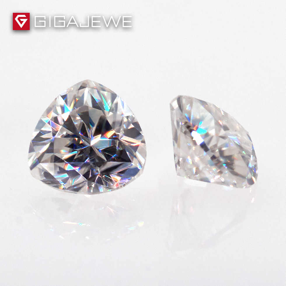 GIGAJEWE 0.5ct 5mm EF Color Trillion Cut Moissanite Stone DIY Gem Charms DIY Beads For Jewelry Making Fashion Girlfriend Gift