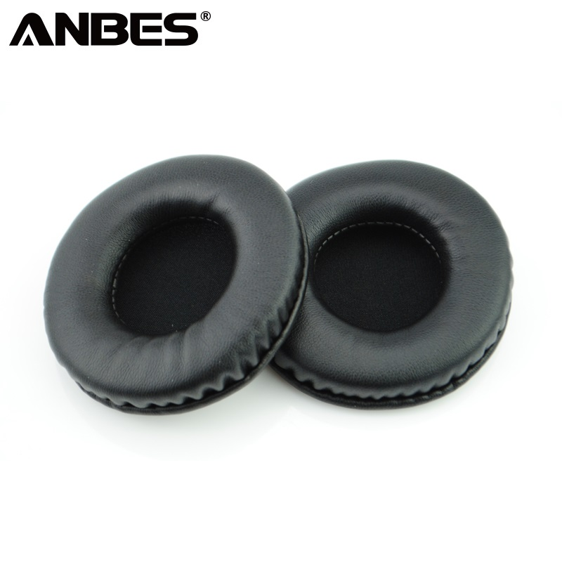 ANBES 80mm Replacement Ear Pads Cushions Soft Foam Sponge Durable Earpads Covers for Headphones Headset new standard replacement earpad ear pads soft foam sponge pro for sennheiser hd202 pro hd497 eh150 warm care headphones