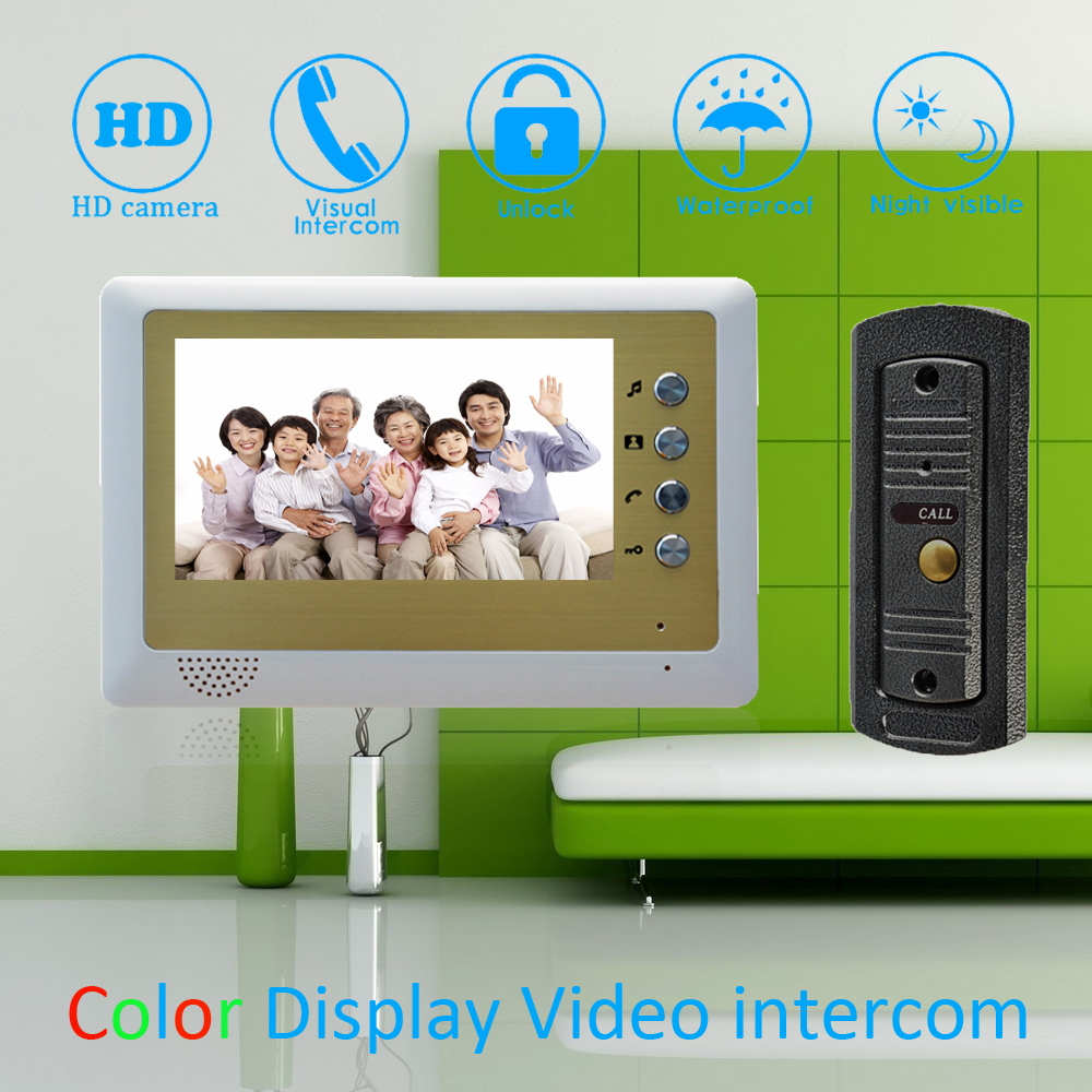 (1 Set) 7 inch Monitor Home Improvement Video Door Phone Home Security Digital Doorbell Door Access Control Intercom(1 Set) 7 inch Monitor Home Improvement Video Door Phone Home Security Digital Doorbell Door Access Control Intercom