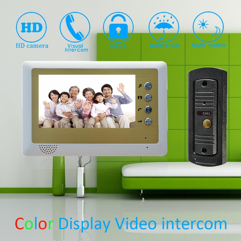 (1 Set) 7 Inch Monitor Home Improvement Video Door Phone Home Security Digital Doorbell Door Access Control Intercom