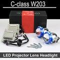Привет Низкий СВЕТОДИОДНЫЙ Проектор линзы фар Для Mercedes Benz C class W203 с галогенными headllamp ТОЛЬКО Модернизации Обновление (2000-2006)