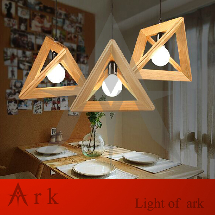 Fashion Design Contemporary and Contracted Shuttle Wooden Triangle Droplight Pendant Lamp WOOD LAMP creative personality for contemporary and contracted wooden desk lamp fold wood rocker fashionable living room