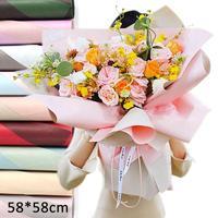 DIY Çiçek Sarma Kağıtları Sarma Çiçekler Hediyeler Ambalaj Malzemesi El Yapımı Diy Sarma Kağıdı Craft Dekor 58*58 cm #30