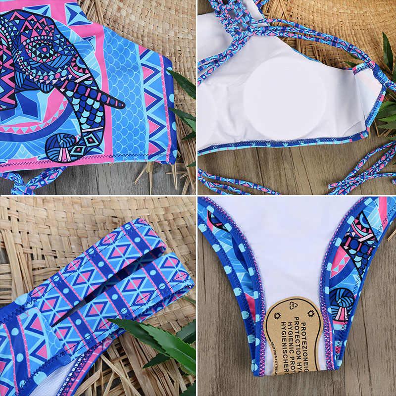 Melphieer haut cou débardeur haut court Bikini Crochet Bikinis ensemble maillots de bain femmes maillot de bain femme maillots de bain 2019 Monokini maillot de bain