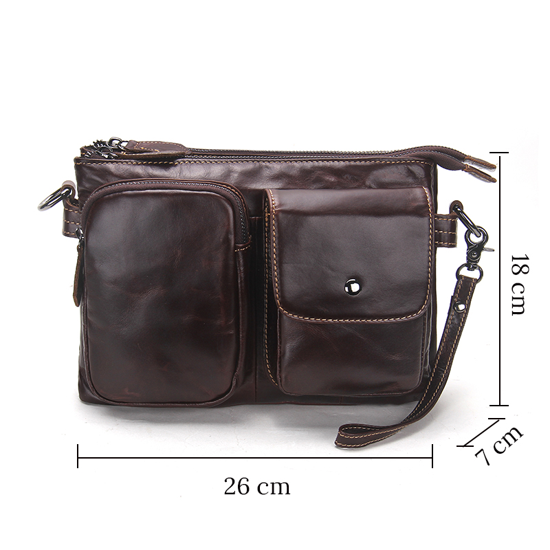 CONTACT'S Vintage Men Messenger Bags High Quality Soft Genuine Leather Large Capacity Travel Men Bags Dollar Price Handsome Man 4