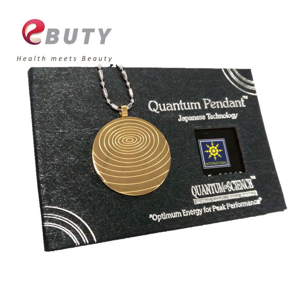 Men Gold Pendant Ions Scalar Energy Stainless Steel Silver Chain Necklace Health Nano Wallet Card Fashion