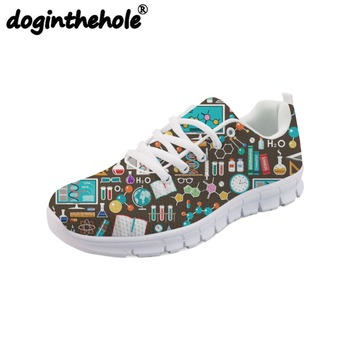 doginthehole Running Shoes for Sport Women Physical Therapy Pattern Comfortable Flats Sneakers Summer Sport Shoes Outdoor Design