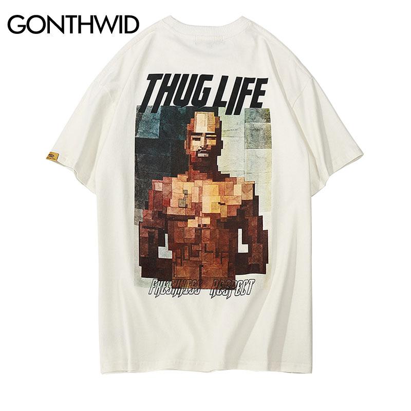 GONTHWID Thug Life Printed Short Sleeve T Shirts Streetwear 2018 Summer Casual Coton Tops Tees Men's Fashion O Neck Tshirts fashion tshirt tshirt fashiontees men - AliExpress
