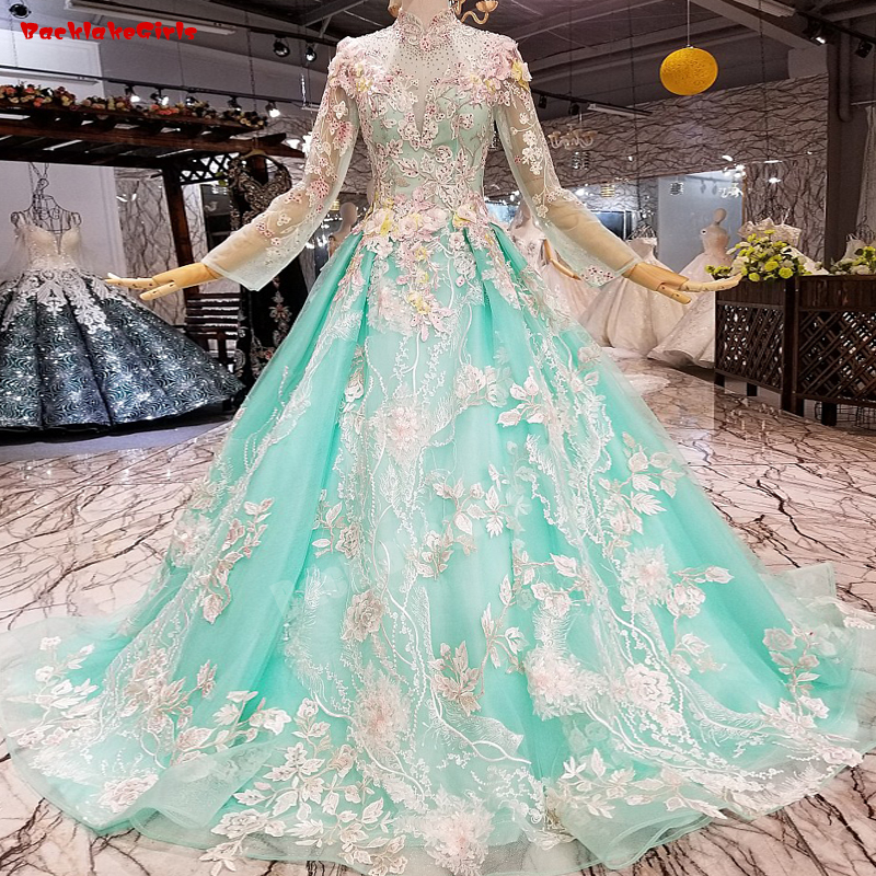 66552 Rosa Langarm Abendkleid Appliqued Gold Spitze Blume Einfache Abendkleid Duftendes Aroma Weddings & Events