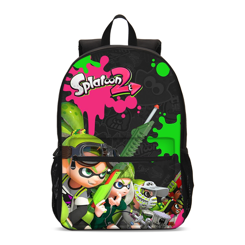 2019 Cartoon Boy's Mochila Splatoon 2 Student's School Backpack High Quality Durable Girl's School Bag Satchel Large Daypack New