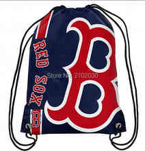 Boston Red Sox Drawstring Bags Men Sports Backpack Baseball Team Digital Printing Pouch Customize Bags 35*45cm Sports US