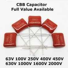 Cbb Capacitor UF 684 630V 223 472 333 102 10pcs 103 104 105 225 224 222 155 154 824 334