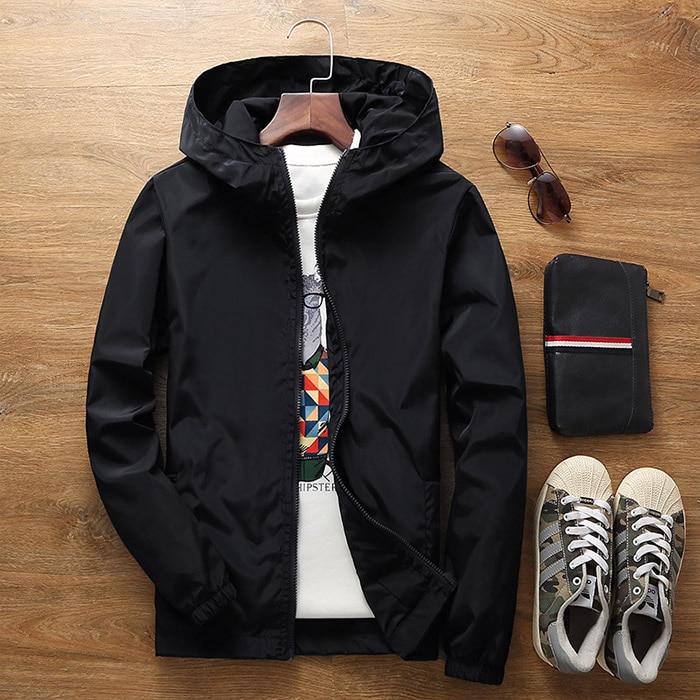 BZPOVB Flower Jacket 2018 Fall Men's Hooded Jacket Slim Long Sleeve Men's Fashion Trench Jacket Brand Clothing