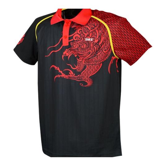 Dhs Original Ga201 Table Tennis Jerseys Shirts Ping Pong