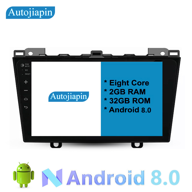 9 Eight Core Android 8.0 2G RAM 1024*600 Car GPS navigation For MAZDA 5 2011 With Stereo Radio Audio