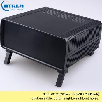 Abs obudowa z tworzywa sztucznego przypadku niestandardowych obudowa elektroniki DIY obudowa z tworzywa sztucznego skrzynka przyłączeniowa niestandardowe skrzynka przyłączeniowa z drutu 230*210 * 86mm