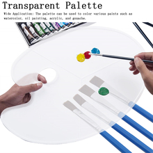 Wooden Oil Painting Palette Oval Smooth With Thumb Hole Tray Watercolor Acrylic Wooden Art Supplies Flat Artist Palette #18 1piece oval oil painting palette 30 40cm 40 50cm wooden walnut oil acrylic painting drawing palette artist supplies