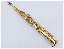 Soprano 54 Gold Electrophoresis Saxophone Soprano B Flat Top Musical Instruments Sax Soprano Professional Grade Free Shi