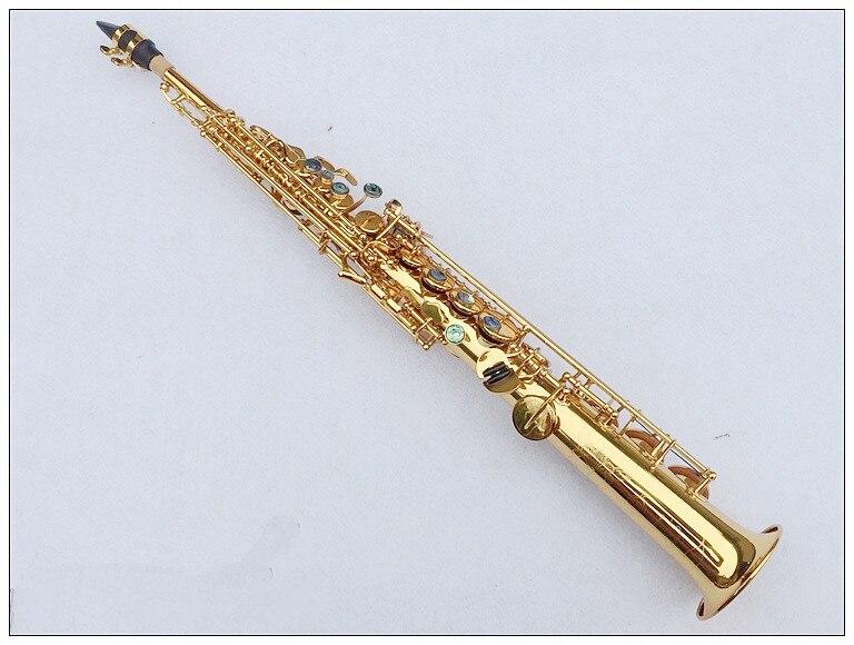 Soprano Or Électrophorèse Saxophone Soprano B Flat Top Instruments de Musique Sax Soprano Professionnel Grade Livraison Shi