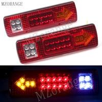 MZORANGE 2pcs 19 LED Car Truck Trailer Rear Tail Stop Turn Light Indicator Lamp 12V 24V