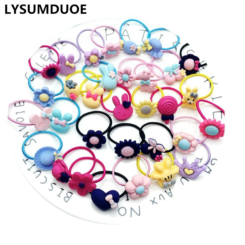 10Pcs/Lot Girl Mini Elastic Hair Bands Ponytail Holder Cotton Headband Candy Color Scrunchy Ring Rope Children Hair Accessories hot sale hair accessories headband styling tools acessorios hair band hair ring wholesale hair rope
