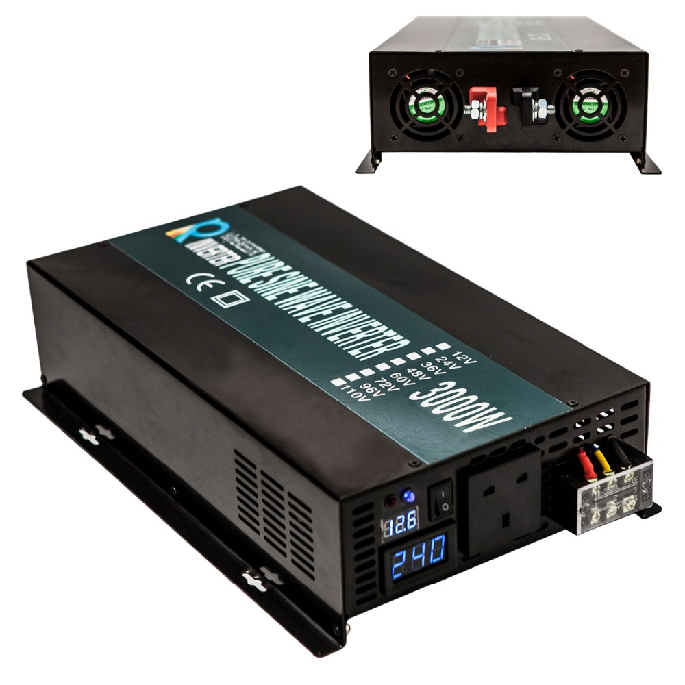 Solar Grid Pure Sine Wave Power Inverter 12V 220V 3000W For Solar Power Generator System Grid Tie Inverter 3000W solar grid 3000w inverter power supply 12v 24v dc to ac 220v 240v pure sine wave solar power 3000w inverter reliable generator