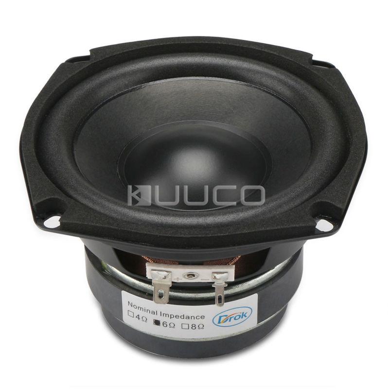 Audio Loudspeaker 40W Woofer Speaker Double magnetic Speaker 4.5-inch 4 ohms Subwoofer Bass Speaker for DIY speakers 1pcs denmark vifa 3 5 inch woofer speaker weave pots speaker magnet