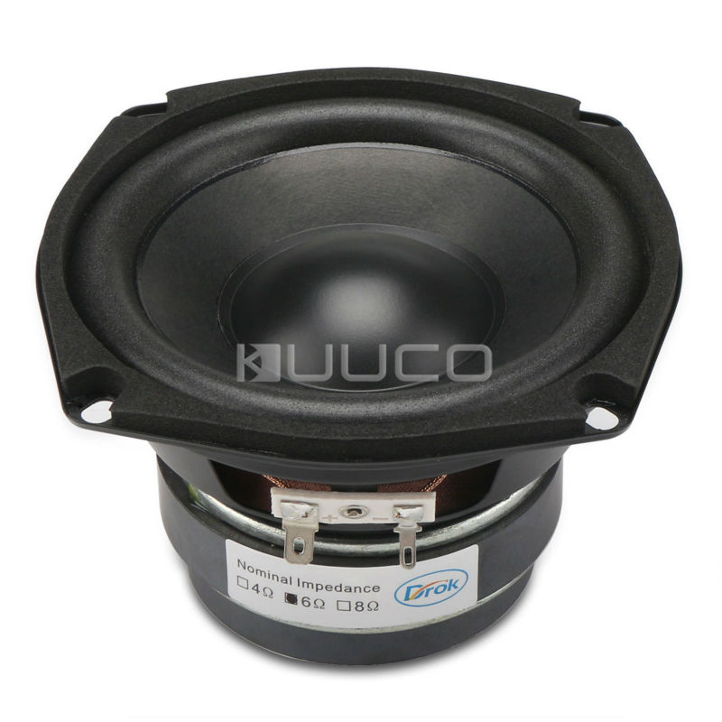 Audio Loudspeaker 40W Woofer Speaker Double magnetic Speaker 4.5-inch 6 ohms Subwoofer Bass Speaker for DIY speakers audio loudspeaker 40w woofer speaker double magnetic speaker 4 5 inch 4 ohms subwoofer bass speaker for diy speakers