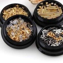 1 Box New Fashion 3D Nail Art Rhinestones Glitter Diamonds  Mixed colors Tips DIY Decoration manicure nails accessoires