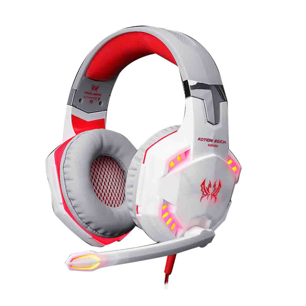 PHSOULTONE Gaming Headset Headphone with Microphone Stereo LED Lighting Noise Cancellation for LOL Game and music