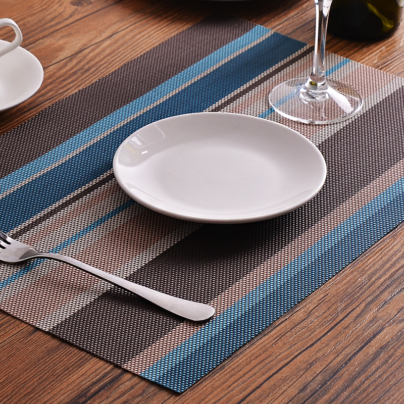 Us 3 34 33 Off Epasun Pvc Dining Table Mat Placement Waterproof Placemats Coaster Heat Insulation Dish Bowl Cup Place Pad Kitchen Tools In Mats