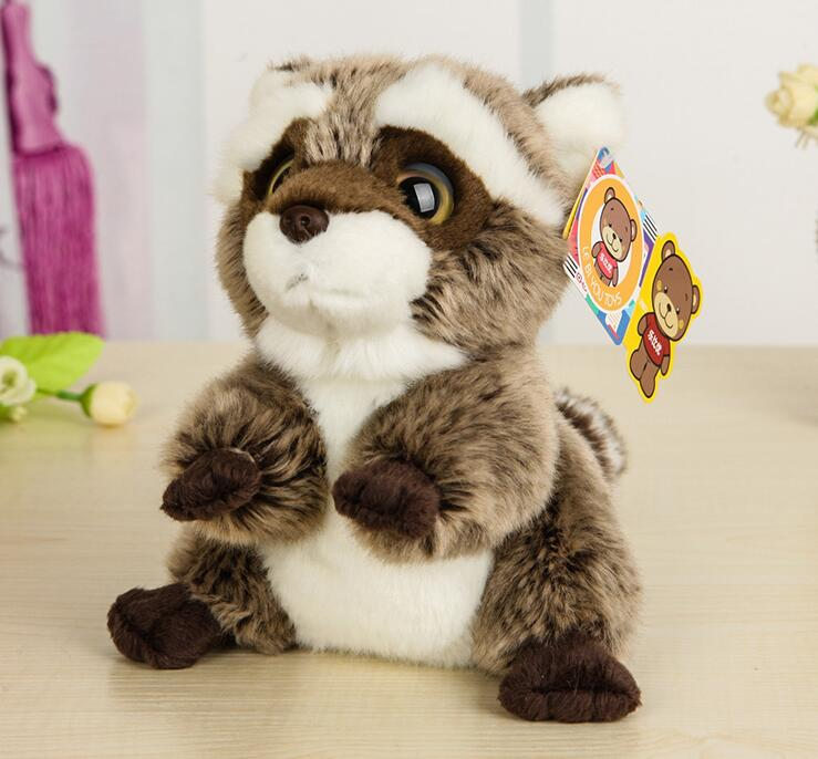 Plush Toy Super Kawaii  Simulation Raccoon Doll  Children'S Toys  Holiday Gifts 18cm 7inch super mario plush toys bowser dragon doll brothers bowser toy free shipping