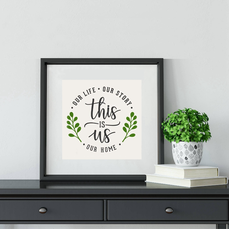 This is Us Love Quotes Wall Art Canvas Print Rustic Home Decor Our Story Our Home Art Painting Picture Farmhouse Wall Decoration image
